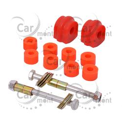 Tuleja + łącznik stabilizatora przedniego x2 - Nissan PickUp D22 - poliuretan